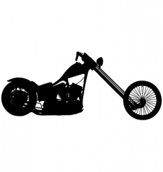 Chopper motorbike vector