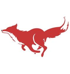 Running fox icon 03 vector