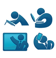 Office life and modern technology vector