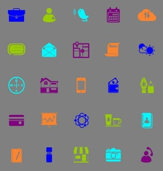 Mobile fluorescent color icons vector