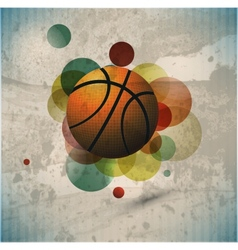 Basketball advertising poster vector