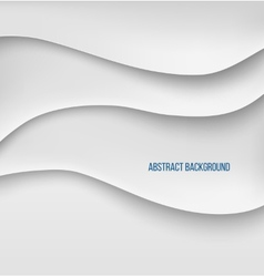 Abstract white paper layers background shadow vector