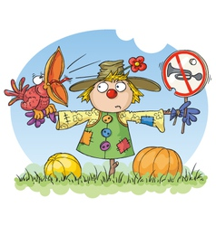Scarecrow - noise prohibited vector