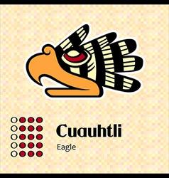 Aztec symbol cuauhtli vector