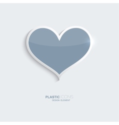 Plastic icon heart symbol vector