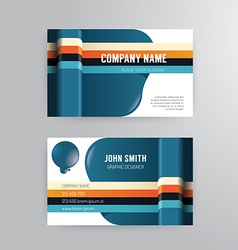 Business card template modern abstract concept vector