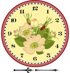 Retro flower clock dial vector
