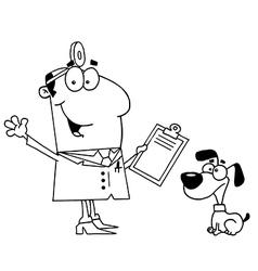 Cartoon vet vector