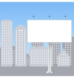 Abstract billboard on city background vector