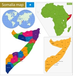 Somalia map vector