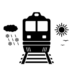 Travel on train isolated symbol vector