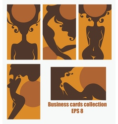 Healthy tan cards for solarium and spa salons vector