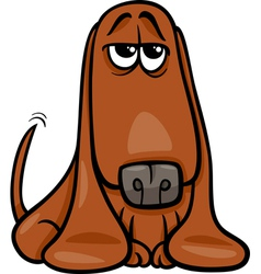 Funny basset dog cartoon vector