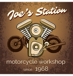 Motorcycle repair shop poster vector