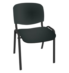 Black office single chair isolated on white vector