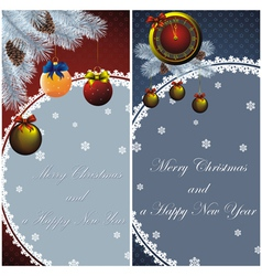 New year card with christmas decor vector