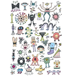 Funny cute monsters vector