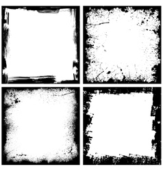 Four black frames vector