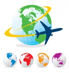Airplane travel vector