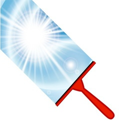 Window cleaning background with squeegee vector