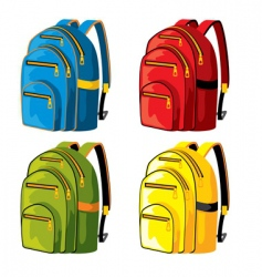 Sport backpacks vector