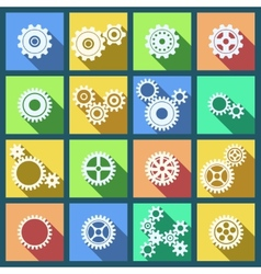 Collection of cogs and gears icons set vector