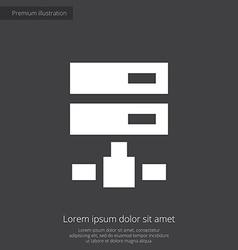 Net drive premium icon white on dark background vector