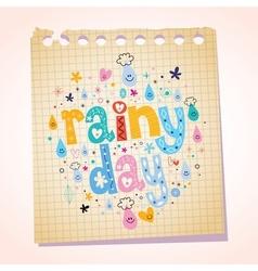 Rainy day notepad paper cartoon vector
