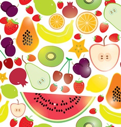 Healthy lifestyle fruits on white background vector