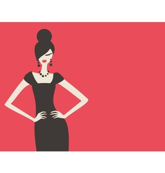 Retro fashion model vector