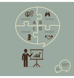 Businessman icons presentation vector