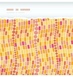 Fire mosaic tiles seamless horizontal torn pattern vector