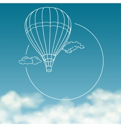Balloon on background of cloudy sky with space for vector