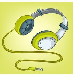 Cartoons headphone vector