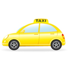 Isolated retro taxi car vector