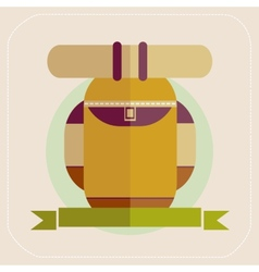 Backpack of tourist icon vector