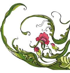 Flowers poppy isolated vector