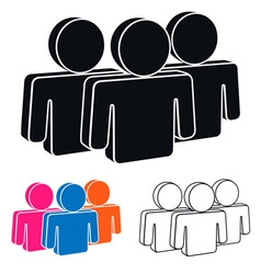 Human resources icon vector