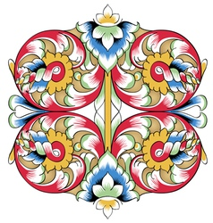 Fragment of drawing orthodoxy pattern russia vector