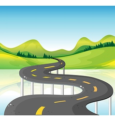 A very narrow curve road vector