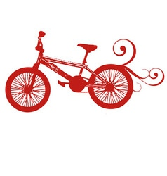 Red bikebike red bike red print bike print vector