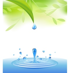 Clear water vector