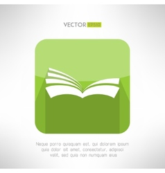 Green book icon notebook sign learning and ebook vector