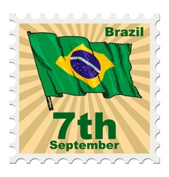 National day of brazil vector
