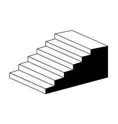 Isometric object stair- architectural 3d object vector