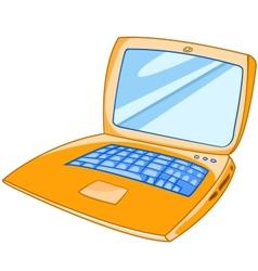 Cartoon laptop vector