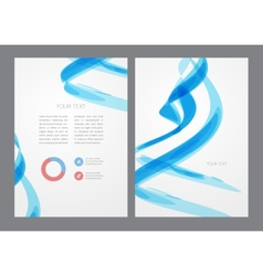 Abstract modern bright blue flyer vector