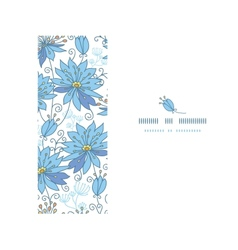 Heavenly flowers horizontal seamless pattern vector