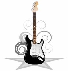 Artistic guitar vector