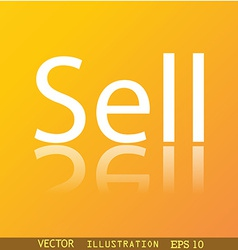 Sell icon symbol flat modern web design with vector